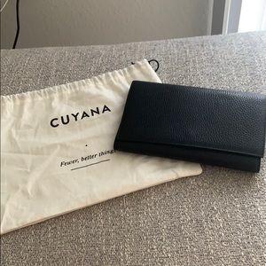 Cuyana Bags - Cuyana black travel wallet